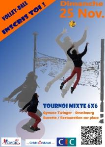Affiche volley tournoi mixte 2018