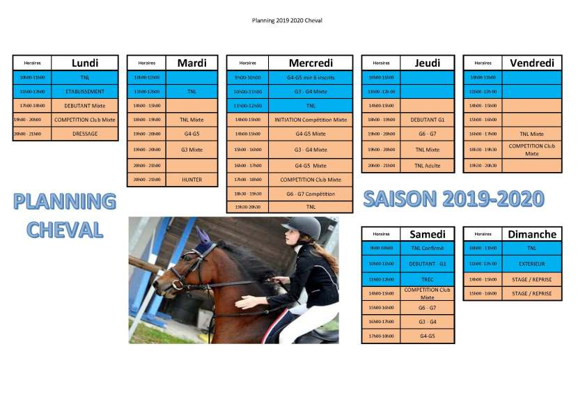 Planning Cheval saison 2019 2020 version 20190818